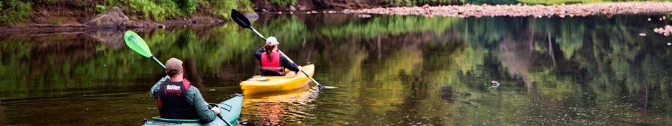 Kayaking on the Westfield River